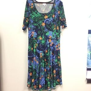 LuLaRoe Dresses - New Lularoe Nicole Dress Floral Print